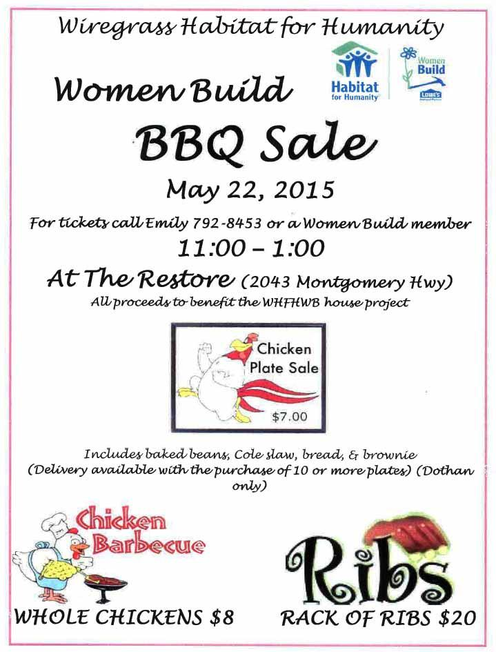2015 women build bbq flyer